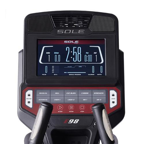 Sole E98 Console With 10 Built in Workouts and Bluetooth Tracking