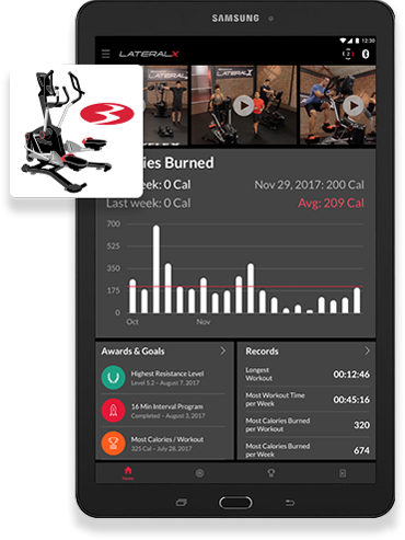 LateralX Samsung Tablet With Bowflex App