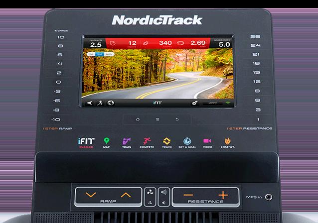 NordicTrack FreeStride Trainer FS7i Display