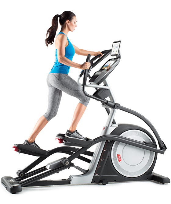 Best Elliptical - Woman on Front Drive Machine