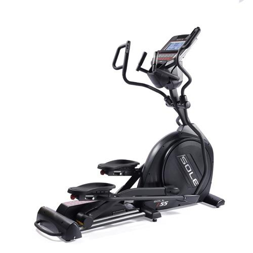 Sole E55 Elliptical - 2018 Model With Multi Grip Handlebars and Pivoting Foot Pads