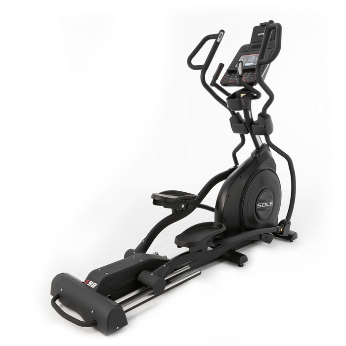 Sole Fitness E98 Elliptical - MultiGrip Handlebars and 10.1