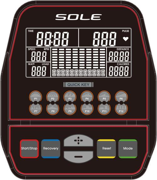 Sole ST300 Strider Console Display