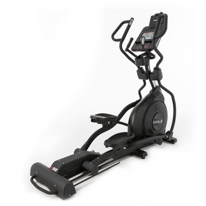 Sole Fitness E98 Elliptical - MultiGrip Handlebars and 10.1